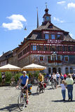 Citylife in Stein Am Rhein, Switzerland Stock Image