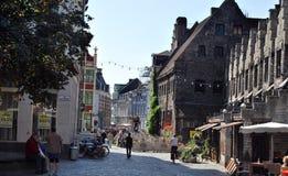 Citylife w Ghent, Belgia Obraz Royalty Free