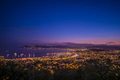 Citylight in Cannes Stock Afbeelding