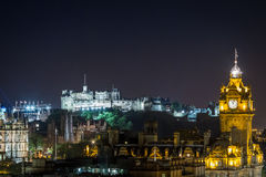 Citylight d'Edimbourg par nuit Photo libre de droits