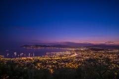 Citylight en Cannes Imagen de archivo