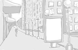 Citylight i den grafiska designen för stadsattraktion royaltyfri illustrationer