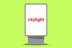 Citylight outdoor advertising. Vector illustration Royalty Free Stock Photography