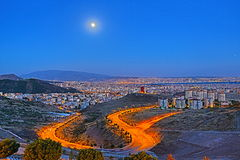 Citylights - An HDR View from Izmir Royalty Free Stock Photo