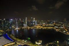 Citylights -Marina bay Stock Photos