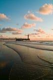 Cityline alla spiaggia Immagini Stock