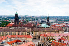 Cityline de Dresden Fotografia de Stock Royalty Free