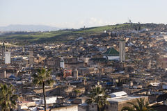 Cityline of Fes in Marocco Royalty Free Stock Photo