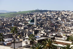 Cityline of Fes in Marocco Stock Photography