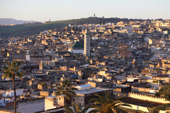 Cityline Of Fes In Marocco Stock Images