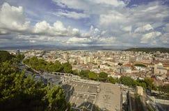 Cityline van Cagliari stock afbeeldingen