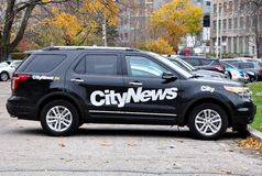 CityNews car Royalty Free Stock Photo