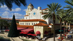 CityPlace in West Palm Beach, Florida. It is an upscale lifestyle center, including shops, restaurants, rental apartments, condos, and offices Royalty Free Stock Image