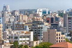 Citysacpe de Nicosia Parte meridional del capital chipre fotos de archivo libres de regalías