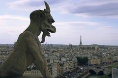 cityscape贵妇人・ de notre巴黎 免版税库存照片