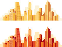 Cityscape. Day of birth of the silhouette of the city Royalty Free Stock Photography