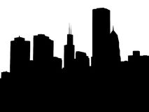 Cityscape. The silouette of a city skyline Royalty Free Stock Photo