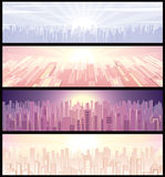 Cityscape. Set of urban wide backgrounds(vector available royalty free illustration