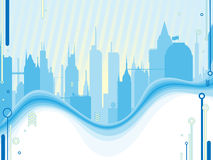 Cityscape. Vector illustration of a cityscape Royalty Free Stock Photos