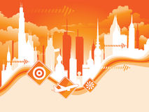 Cityscape. Vector illustration of a cityscape Royalty Free Stock Images