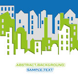 Cityscape. Abstract building. Vector illustration Royalty Free Stock Photography