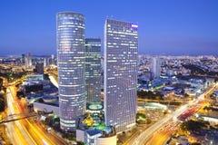 Cityscape. Tel Aviv at sunset, Israel Royalty Free Stock Photography