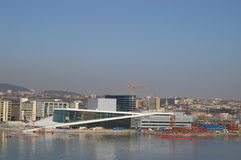 Cityscape. A modern cityscape and the new opera house in Oslo Royalty Free Stock Photography
