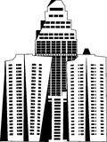 Cityscape. Fully drawn buildings mixed together Royalty Free Illustration