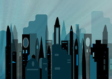 Cityscape. Illustration of a modern cityscape of an active metropolis Stock Photography