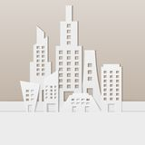 Cityscape. Easy to edit vector illustration of cityscape made of paper vector illustration