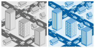 Cityscape. Decorative cityscape. EPS10 vector illustration Royalty Free Stock Photography