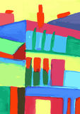 Cityscape. Abstract modern urban scene painting Stock Photo