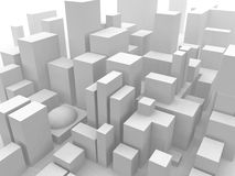 Cityscape. A 3D rendering done in Vue 5 Royalty Free Stock Photography