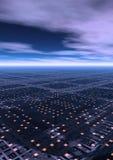 Cityscape. A futuristic city scape Stock Photography