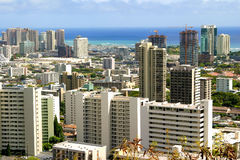 Cityscape. Downtown Honolulu Royalty Free Stock Image