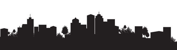 Cityscape. Silhouette of a city scape Royalty Free Stock Photography