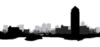 Cityscape. Silhouette of a city scape Royalty Free Stock Photo