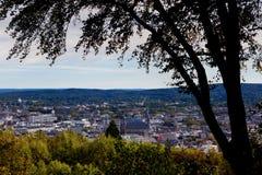 Cityscape Aachen, Tyskland royaltyfria foton