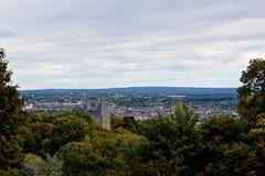 Cityscape Aachen, Tyskland royaltyfri bild