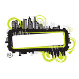 Cityscape, abstract frame Stock Images
