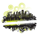 Cityscape, abstract frame Royalty Free Stock Photos