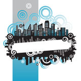Cityscape, abstract frame Royalty Free Stock Photography