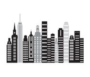 Cityscape achtergrond Stock Afbeelding