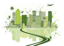 Cityscape achtergrond, stedelijk art. Stock Foto's
