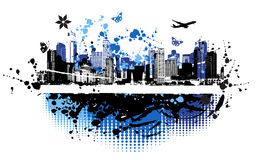 Cityscape achtergrond, stedelijk art. Royalty-vrije Stock Afbeelding