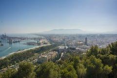 Cityscape aerial view of Malaga, Spain. Stock Photo