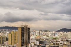 Cityscape Aerial View of Quito Ecuador stock image