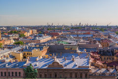 Cityscape aerial view Saint Petersburg Russia Stock Images