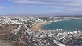 Cityscape of Agadir, city of Morocco stock footage