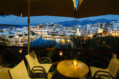 Cityscape of Agios Nikolaos, Greece Royalty Free Stock Photos